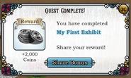 Quest My First Exhibit-Rewards