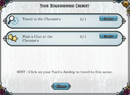 Quest Your neighborhood Chemist-Tasks