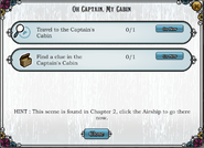 Quest Oh Captain, My Cabin-Tasks