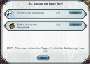 Quest All Aboard the Ghost Ship tasks