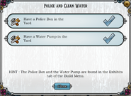 Quest Police and Clean Water-Tasks