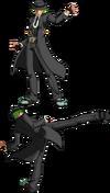 BBCS (Hazama Foward Throw)