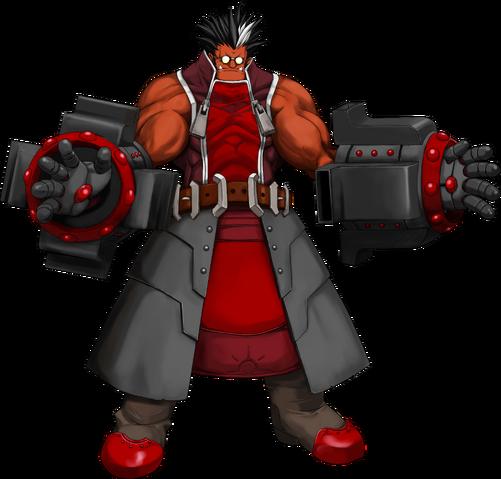 File:Iron Tager (Calamity Trigger, Character Select Artwork).png