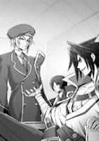 BlazBlue Spiral Shift Hyōjin no Eiyū (Black and white illustration, 1)
