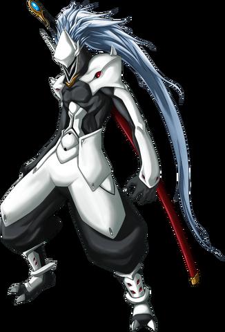 File:Hakumen (Calamity Trigger, Character Select Artwork).png