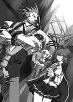 BlazBlue Phase Shift 4 (Black and white illustration, 1)
