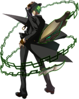 Hazama (Story Mode Artwork, Pre Battle)