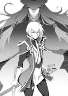 BlazBlue Spiral Shift Hyōjin no Eiyū (Black and white illustration, 6)