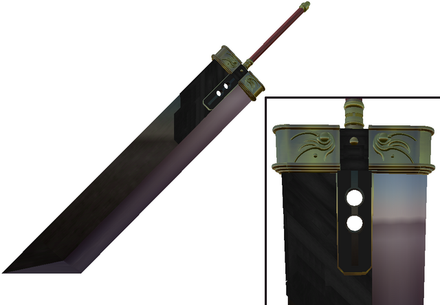 File:Crisis Core Buster Sword by aeon the hedgehog.png