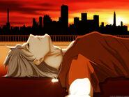 436069 anime-boy-at-sunset p