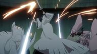 Unohana engaging in battle