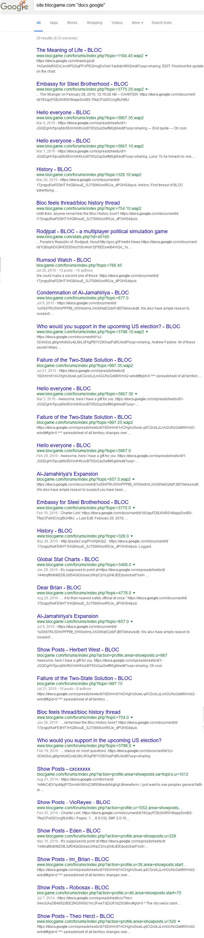 Blocgame docs.google