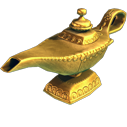 Block genie lamp