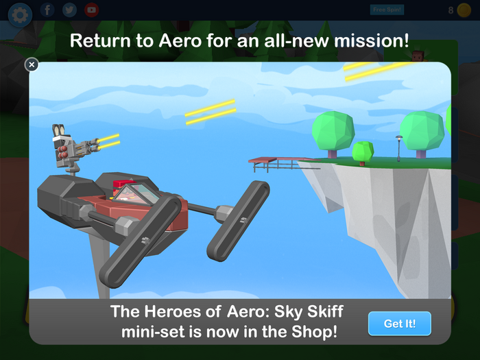 New Heroes of Aero - Sky Skiff set!