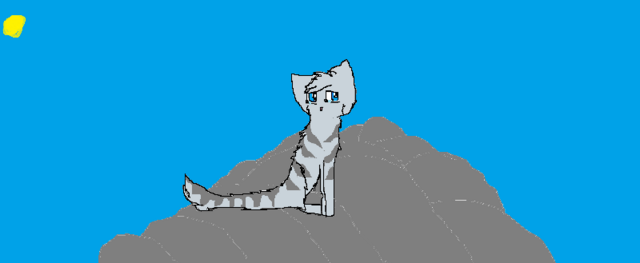 File:Silver-cat-sitting-on-rocks-for-goldenfeather.png