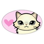 Design your own cartoon cat love hearts sticker-re1f53b8471304f2ca4a0bb3598445127 v9wz7 8byvr 324
