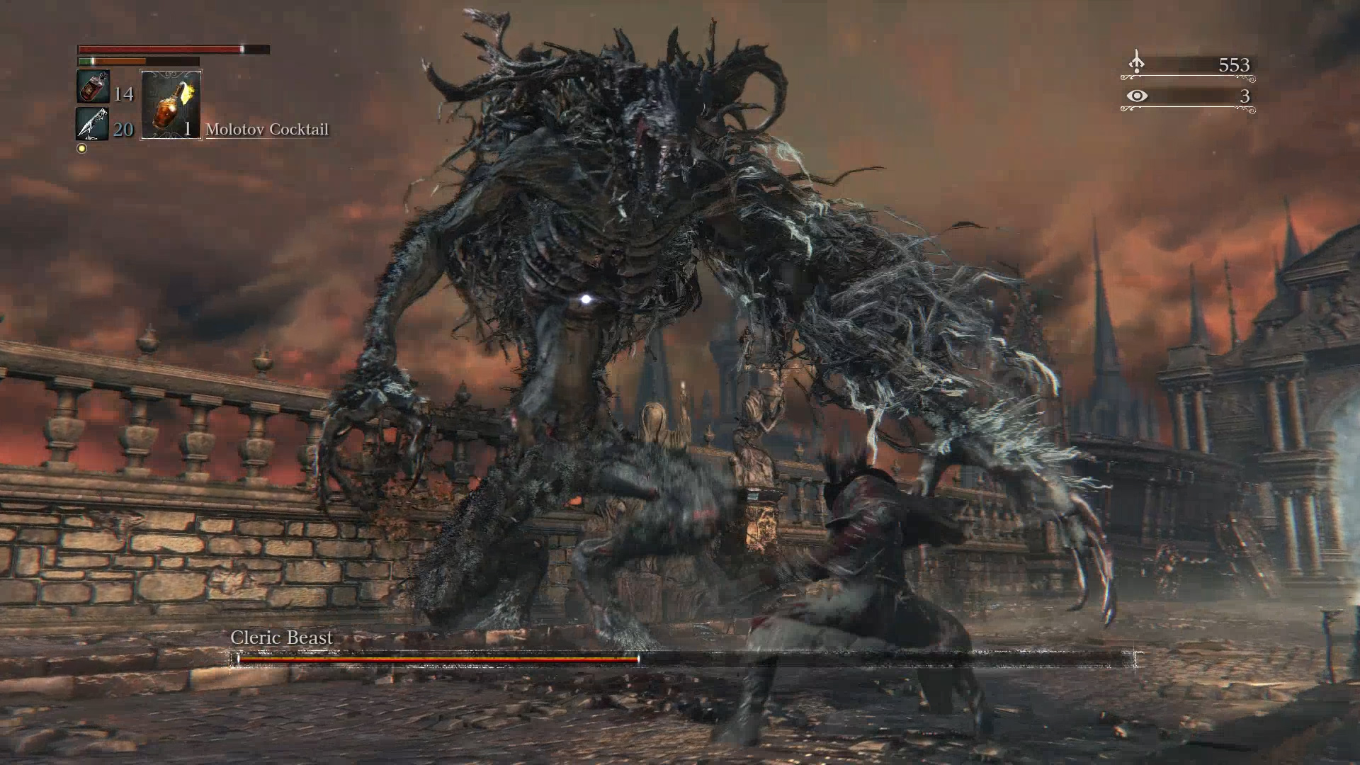 Bloodborne - Cleric Beast Boss Fight Walkthrough (Cleric Beast ...