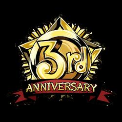 3rd Anniversary Badge