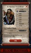 Sir Morholt, Venomblade Base Stats