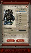 Cadmoth, Dragonslayer (max stats)