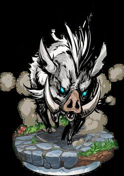 Wild Boar II + Figure