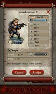 Crossbowman II (evolved from 2 level 30 Crossbowmen - full stats)