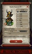 Heavy Samurai II plus (base stats)