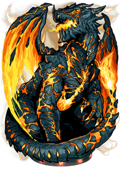 Lava Dragon Figure