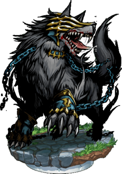 Schlact, The Frost Wolf Figure