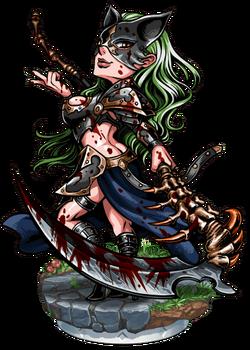 Chanoir, the Crimson Scythe Figure