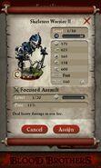 Skeleton Warrior II (evolved fron 2 level 1 Skeleton Warriors)