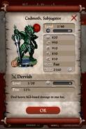 Cadmoth,Subjugator(Reward)