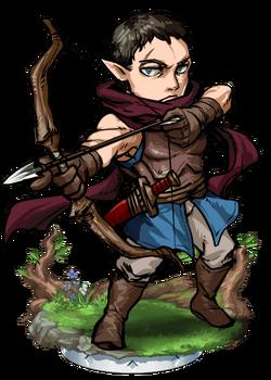 Elven Bowman Figure