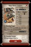 Hina, Flame Conjurer Base Stats
