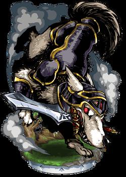 Cu Sith, Mastiff Knight II Figure