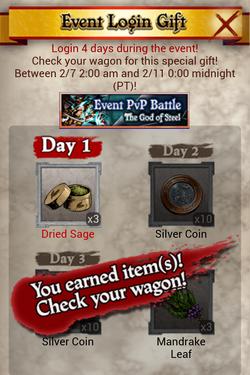 PvP 18 Phase 1 Login Reward