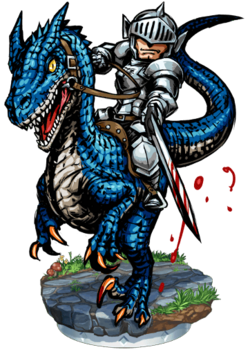 Lanvall, Lizard Knight Figure
