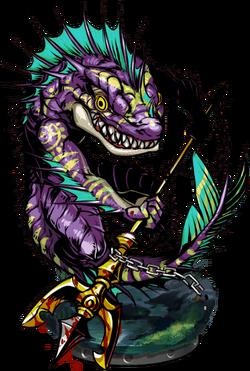 Sahagin Protector II Figure