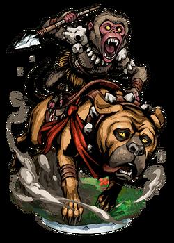Macaca, Dog Rider II Figure