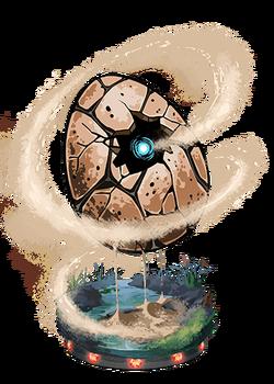 Earthen Egg Figure