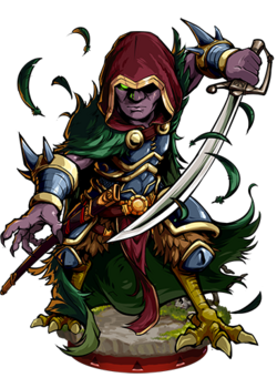 Caim, the Black Thrush Figure