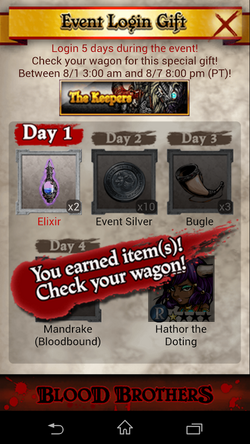 The Keepers Login Rewards