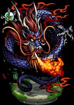 Xin Lon, The Blue Dragon Figure