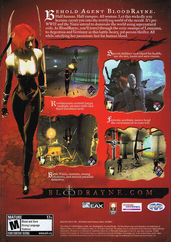File:BloodRayne (Back Cover, North America, Europe, PC).jpg
