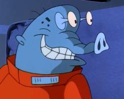 Blue alien convict