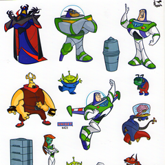 The stickers included in the pack.