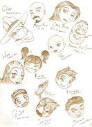 Xiaolin Character heads by Miha Mimiko Kyattuha