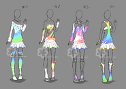 Colorful outfits 8 for sale by nahemii san-d7szner