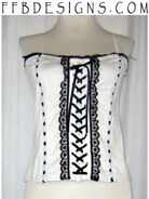 White top with black accents by funkyfunnybone