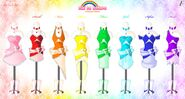 Rainbow Girls Outfits by Neko Vi